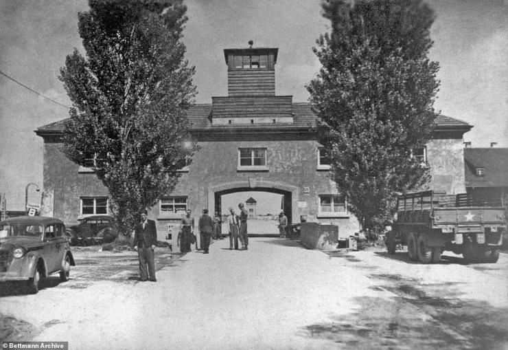 The special agent was transferred to Dachau concentration camp (exterior of camp pictured) in Bavaria, Germany, before her death