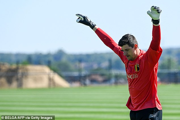Thibaut Courtois (pictured) is said to have been one of the players who accepted the vaccine