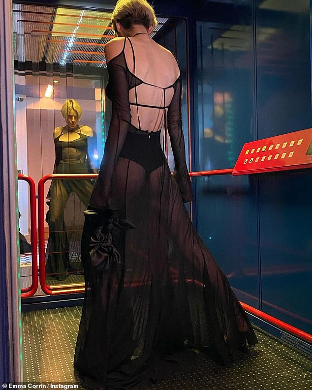 Jaw-dropping:She oozed confidence as she flaunted her figure in the see-through garment while posing for the images shared on Instagram last month