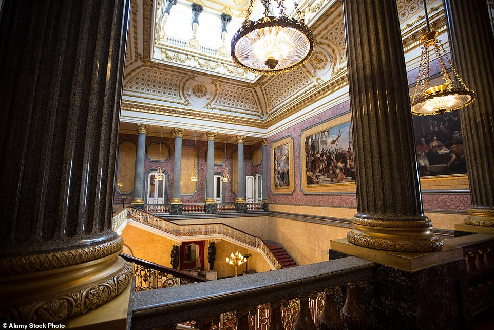 The Grand Hall and staircase of Lancaster House, which today is managed and run by the Foreign & Commonwealth Office