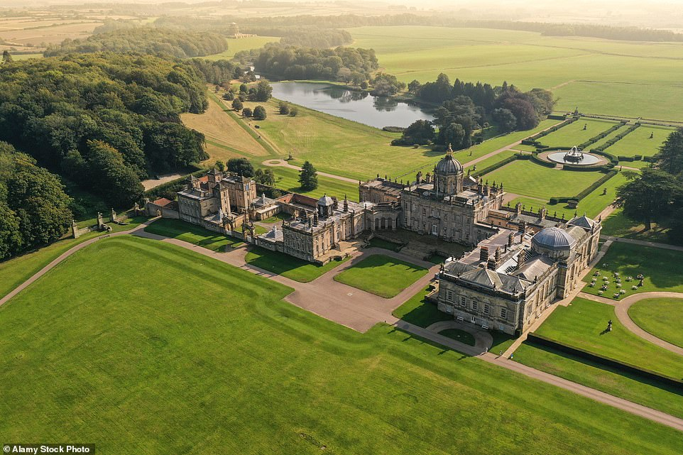 Castle Howard was built in the 17th century and was commissioned by the 3rd Earl of Carlisle in 1699. It is the setting of the Duke of Hasting's country estate in Bridgerton