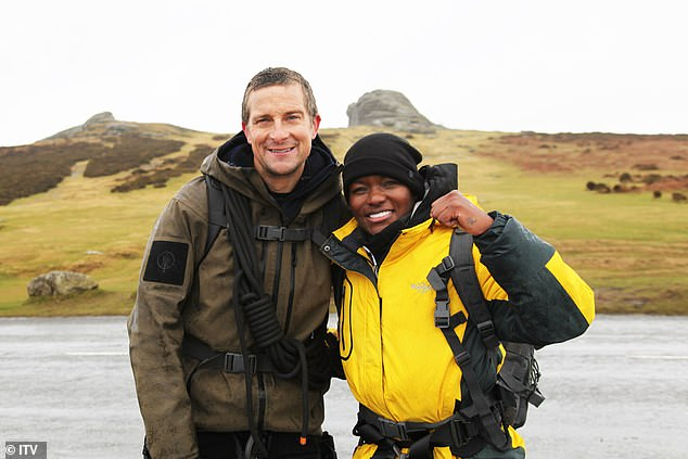 Adventure:Nicola Adams looks set to conquer the wilderness too as she posed for a fun snap with adventurer Bear Grylls while taking part in his new Wild Adventure TV specials