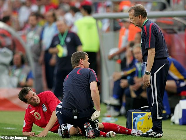 Michael Owen ruptured his anterior cruciate ligament against Sweden at the 2006 World Cup