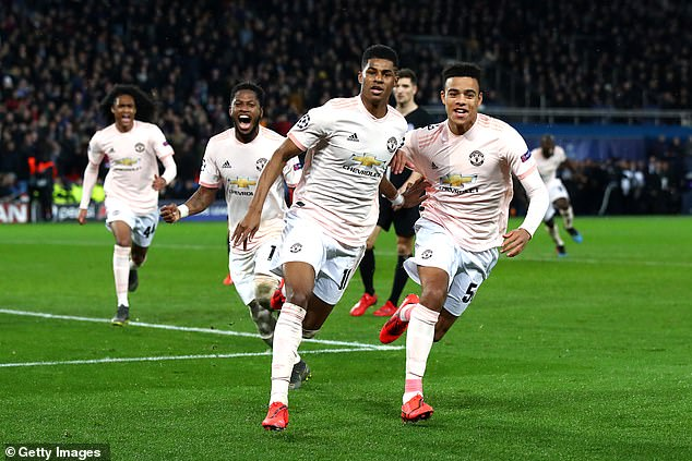 Marcus Rashford converted an ice-cold penalty to help Manchester United triumph at PSG