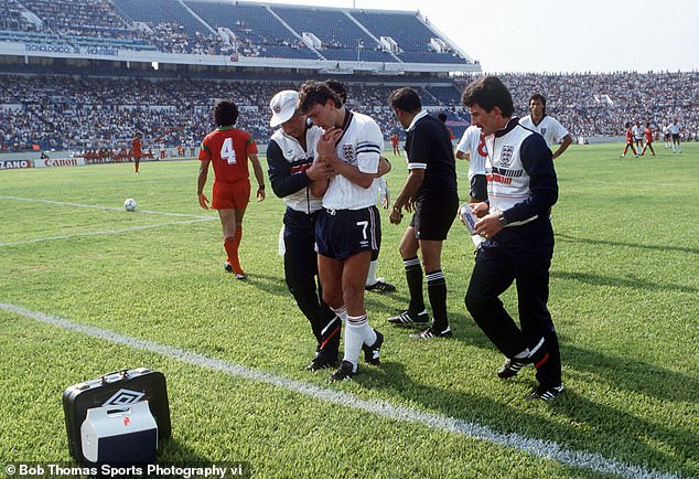 Bryan Robson was plagued by a shoulder injury in the build-up and at the 1986 World Cup