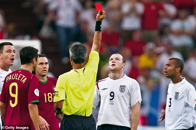 Rooney's World Cup campaign ended in disaster after he was shown a straight red vs Portugal