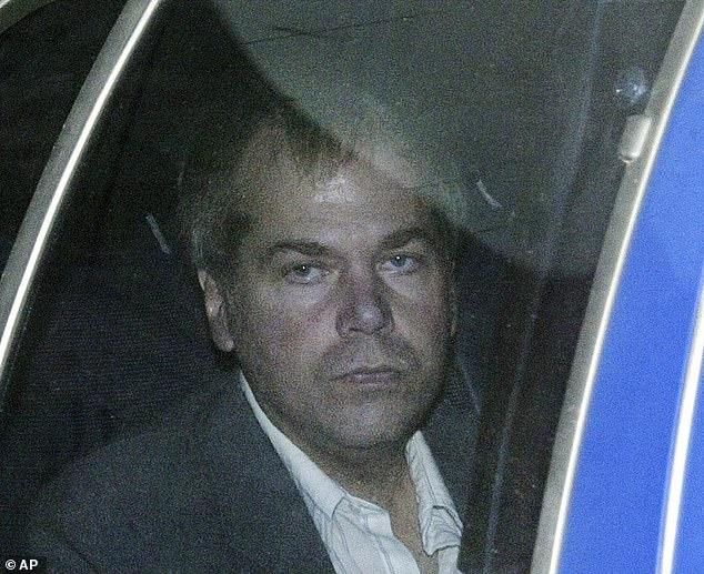 Pictured: John Hinckley Jr. arrives at U.S. District Court in Washington on November 18, 2003