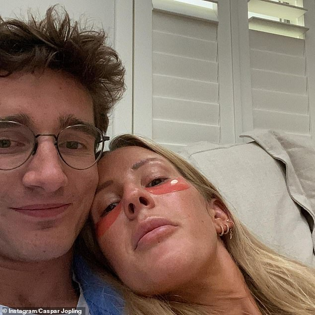 Happy couple: The gorgeous video comes after it was revealed that Ellie and Casper had named their son Arthur Ever Winter Jopling