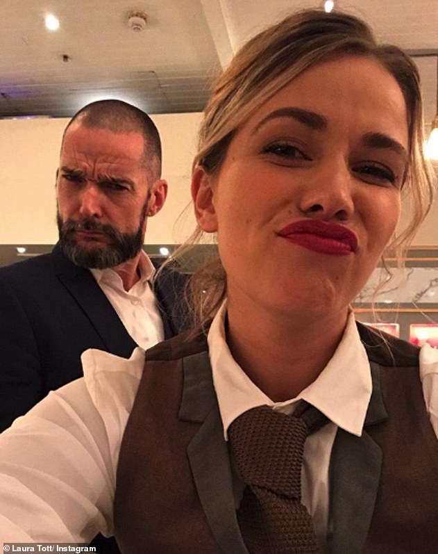 Fame: Laura shot to fame on the channel four dating show First Dates as a waitress (pictured with co-star Fred Sirieix)
