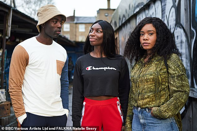 Winner:Following its three wins at the British Academy Television Craft Awards in May, I May Destroy You, won two more BAFTAs on Sunday, for Mini-Series and Leading Actress for Michaela Coel (pictured middle)
