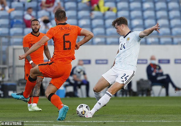 Jack Hendry opened the scoring to shock the Dutch with a fine right-footed strike from range