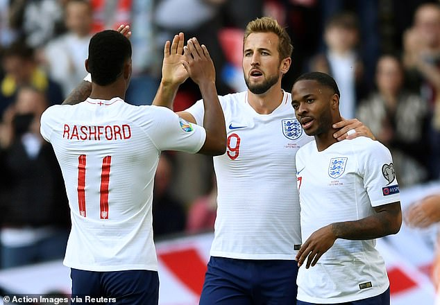 Wright says Marcus Rashford (L) and Raheem Sterling (R) would benefit to come off the bench