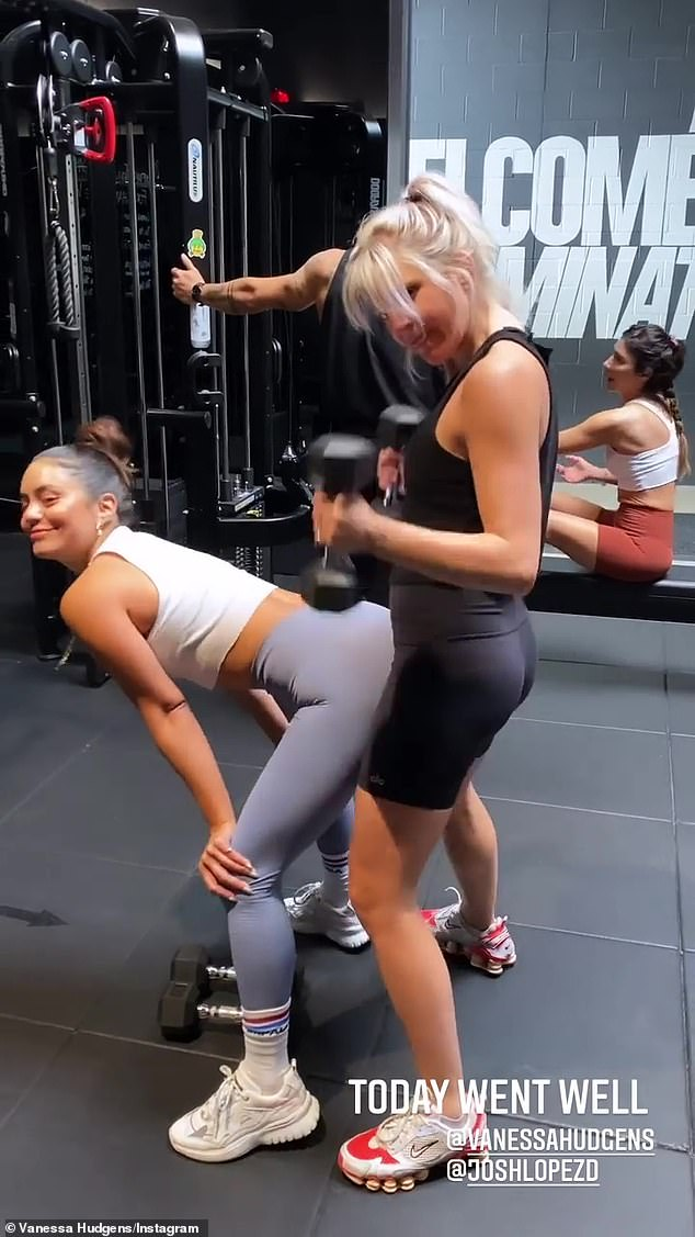 BFFs:The besties couldn't help but goof around during their workout, as GG revealed on her Instagram Story
