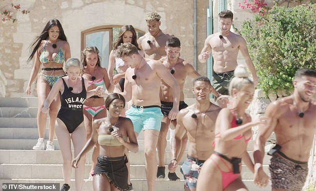 Line-up:However, the ITV commissioner said that including gay Islanders is a 'logistical difficulty' due to the format of the dating show (the 2019 line-up pictured)