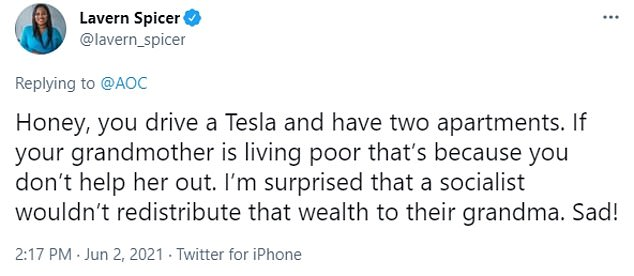 A Florida congressional candidate also called out Ocasio-Cortez for her Tesla and two apartments