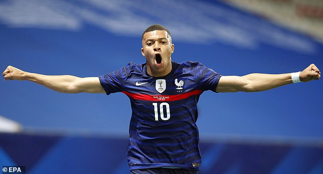 Kylian Mbappe scored on the rebound afterAdrien Rabiot's deflected shot was saved by Ward