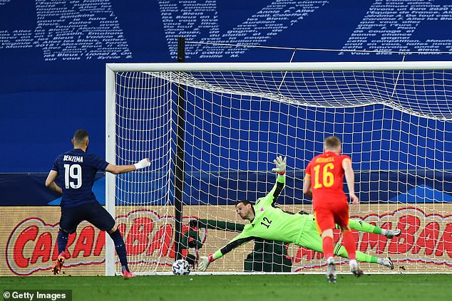 France striker Karim Benzema had his penalty saved by Wales goalkeeper Danny Ward
