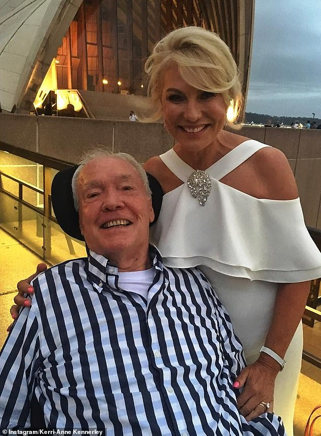 Loved ones: Kerri-Anne added, 'She is now up there dancing with dad and John. We will always love you Mum,' referring to her John her late husband, who passed in 2019