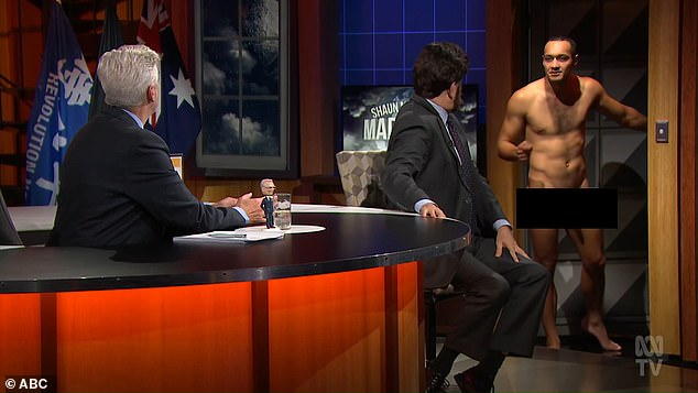 Shocking! Viewers of Shaun Micallef's Mad As Hell on Wednesday were left shocked by a full-frontal nudity gag live on air