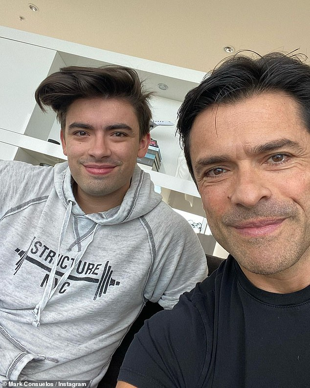 Birthday love:Her husband Mark Consuelos also commented, 'Love you @michael.consuelos' before sharing some more snaps on his own Instagram