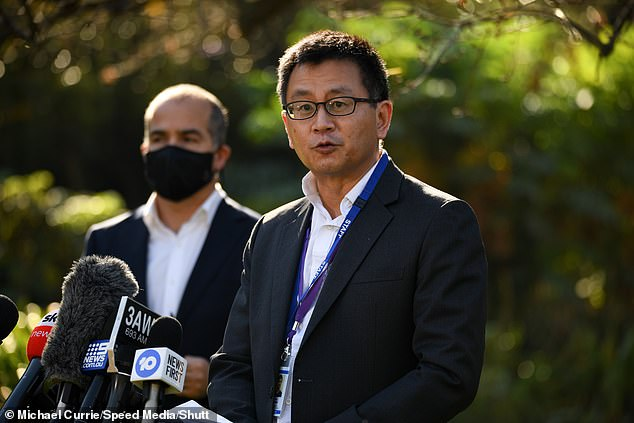 Professor Allen Cheng told reporters on Thursday that 'there is no Pfizer left' amid the Federal Government's already-bungled vaccine rollout