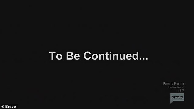 Cliff hanger: The episode ended with a To Be Continued message