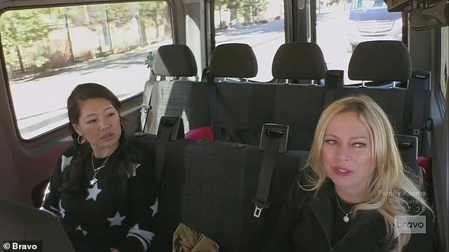 Bonding session:After the adventure, during the limo ride back to the house Sutton and Crystal sat in the back row together and shared stories about their families