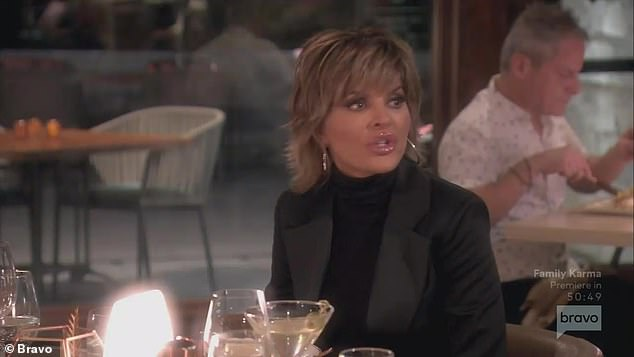 Talking politics: Lisa Rinna shared her opinions on then-President Donald Trump