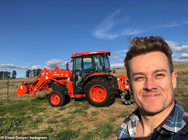 Working the land: Grant's family originated in Scotland, emigrating to Victoria in the mid-1800s after they were brutally forced off their farmland