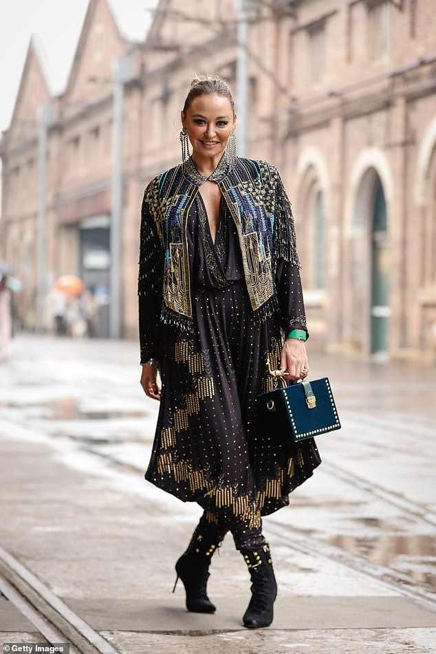 Better than ever! Camilla Franks looked sensational as she showed off her intricately beaded outfit at Australian Fashion Week in Sydney's Eveleigh on Thursday - just weeks after undergoing lifesaving ovarian surgery