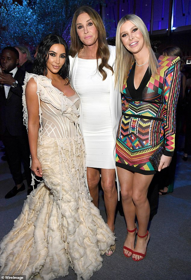 Longtime friends: Hutchins and Jenner met in 2015 after they were introduced by their hairdresser; they are seen with Kim Kardashian in February of 2020