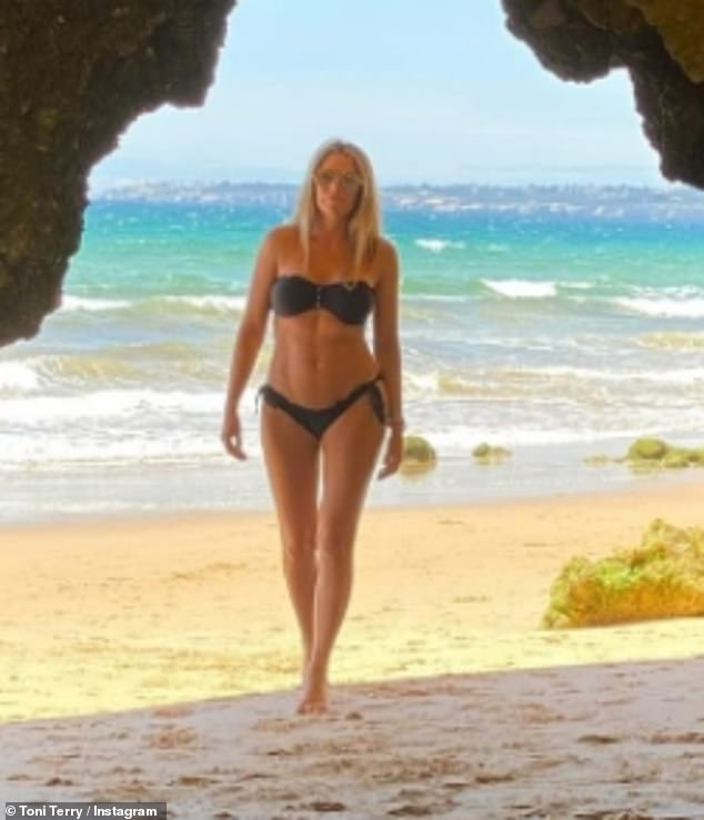 Wow:Toni Terry showcased her incredible figure as she shared a sizzling bikini snap to Instagram on Wednesday