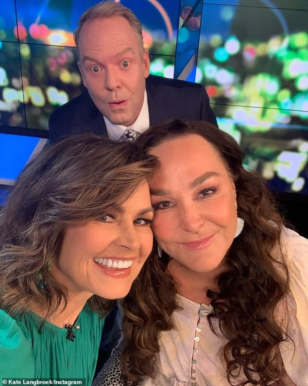 'Well, you know what? You work with Pete Helliar every night, you're used to a little prick!' deadpanned Kate. Pictured with Lisa Wilkinson (left)