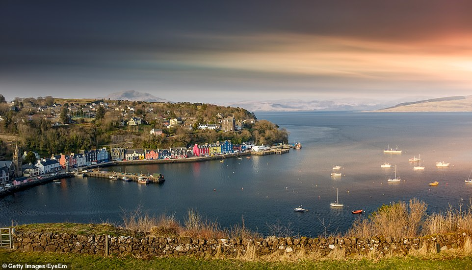 The colourful houses of Tobermory on Mull. The island, which was joint third, scored five stars for its scenery