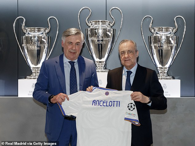 Vazquez will play under new Madrid boss Carlo Ancelotti (left) for the first time in his career