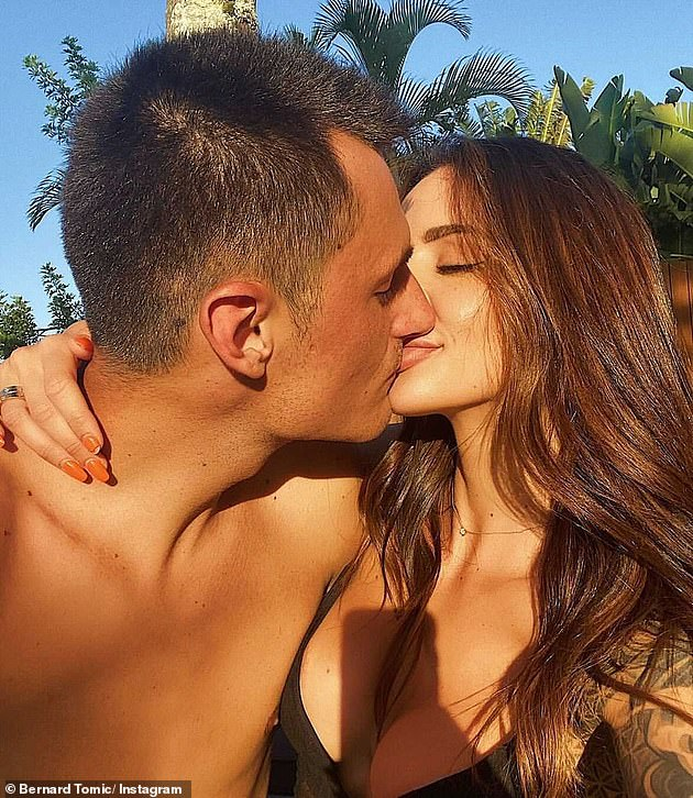 Over: Two weeks ago, Tomic (pictured with Vanessa) found out he did not qualify for the French Open