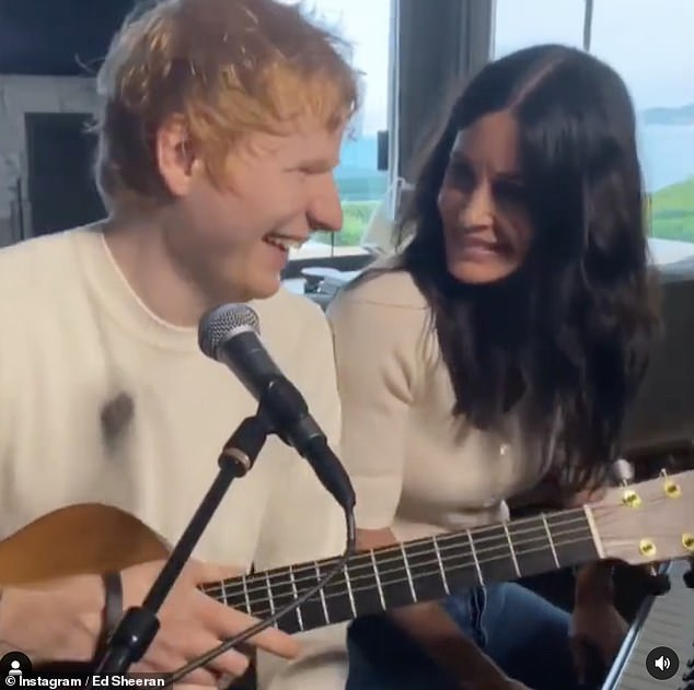 Friends: After playing the opening bars of the song, Courteney and Ed burst out laughing