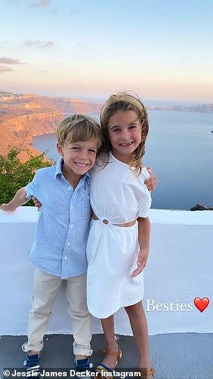 'Besties': Eric and his big sister Vivianne looked like best buds