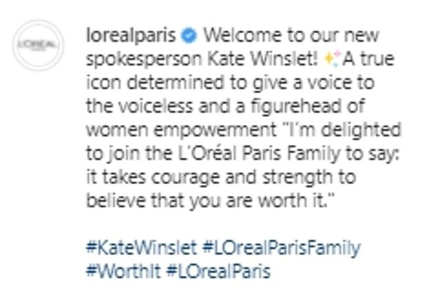 Yay!The actress was announced as L'Oréal Paris' new spokesperson on Thursday and she looked radiant in an accompanying photoshoot