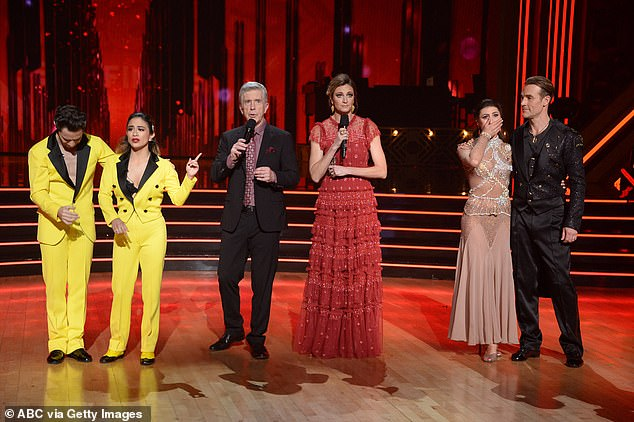 She was saved, not him:The Dawson Creek's star's wife had just experienced a miscarriage and it was a difficult time for the family but Van Der Beek still danced which made Brooke feel like he deserved to not be eliminated; from left, Sasha, Ally, Tom, Erin, Emma and James
