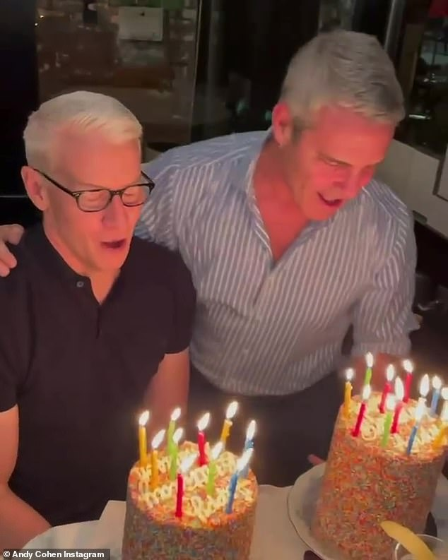 Happy birthday! Andy Cohen and his BFF Anderson Cooper were thrown a surprise birthday party by Sarah Jessica Parker and friends as they celebrated their special day over sprinkled cakes