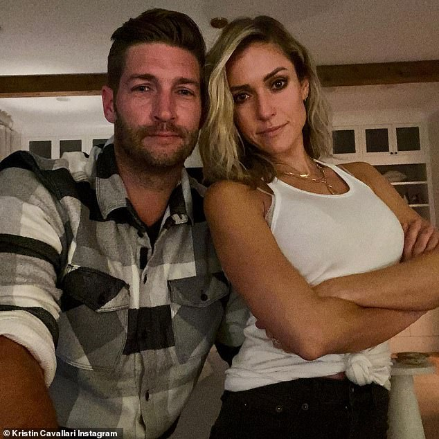 Wow: In late January Kristin and Jay cryptically shared the same joint selfie with the same caption: 'The world is full of users,' adding: '10 years,' and: 'Can¿t break that'