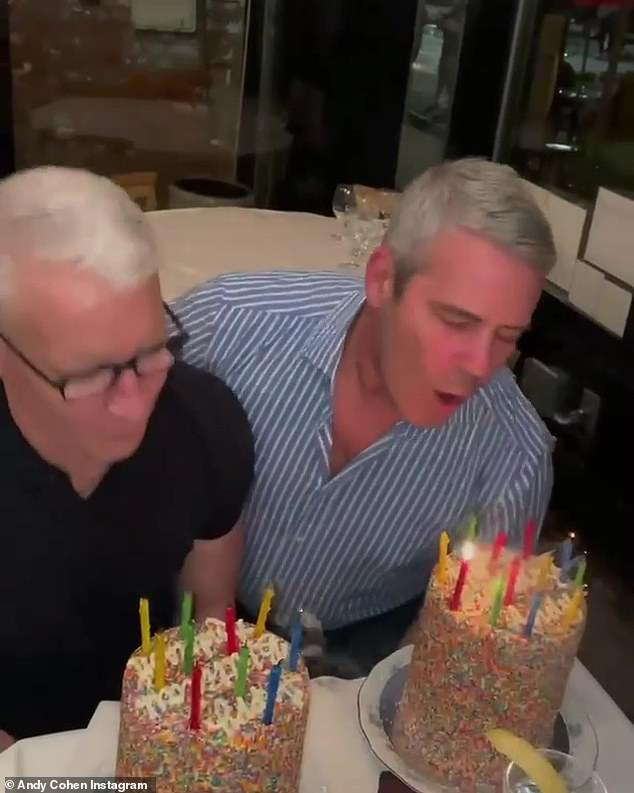 Double trouble: Cohen wished his 'AC2' a happy birthday as he posted the video to his account on Thursday