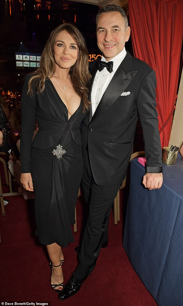 Star-studded:Elizabeth Hurley looked sensational as she led the star-studded arrivals with David Walliams at the British Ballet Charity Gala at London's Royal Albert Hall on Thursday