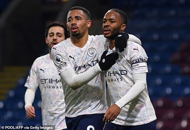 Raheem Sterling (right) and Gabriel Jesus (left) have been linked with a move to Tottenham, plus cash, if Manchester City got Kane – might Conte be placated?