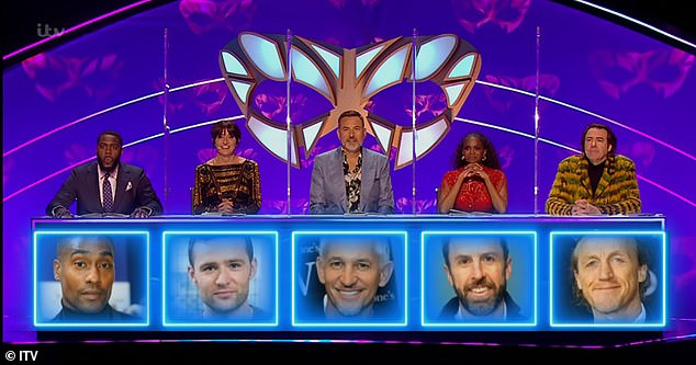 Wrong!The judges - made up of Mo Gilligan, Davina McCall, guest David Walliams,Oti Mabuse and Jonathan Ross (L-R) - were all wrong with their guesses for Beagle which included the likes of Gareth Southgate, Harry Judd and Gary Lineker