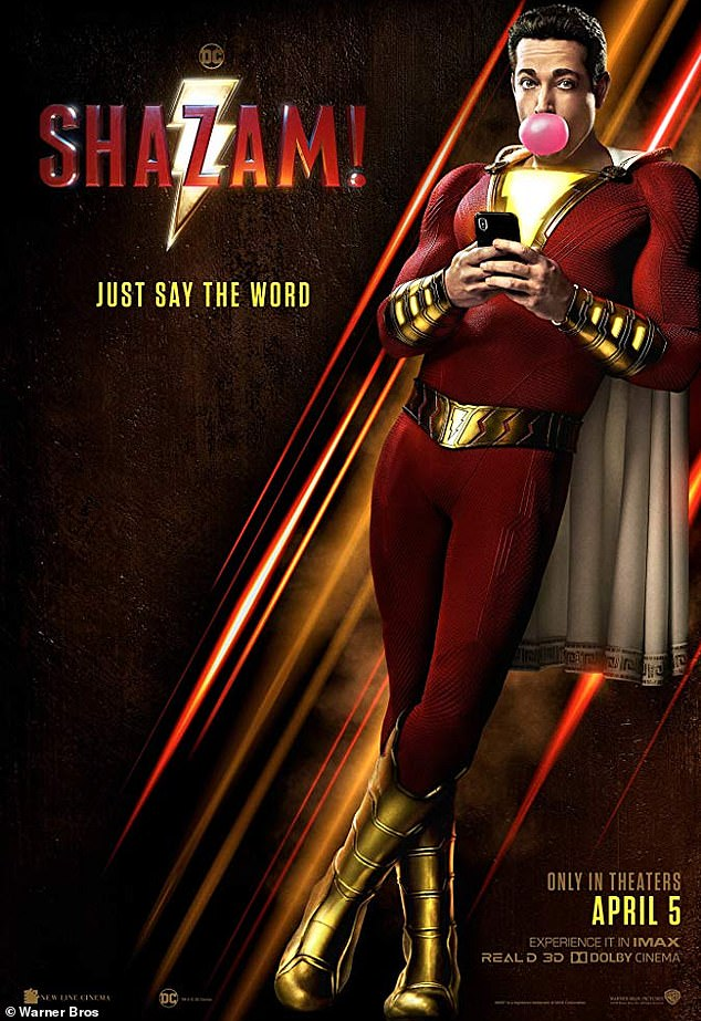 Back at it:The sequel was written by Henry Gayden and being directed by David F. Sandberg - the same people who held these positions on the first Shazam! (pictured)