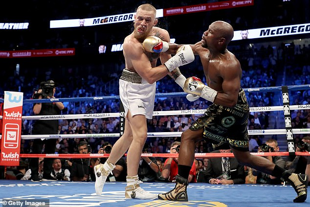 The two fighters met in Las Vegas in August 2017, where Mayweather won by 10th round TKO