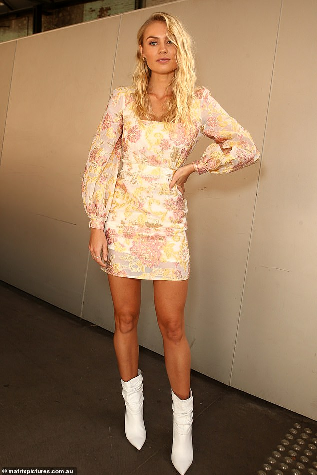 How time flies! The model, who is also an ambassador for department store Myer, regularly stepped out in glamourous outfits as she attended shows in the past. Pictured is Elyse at the Australian Fashion Week in 2019