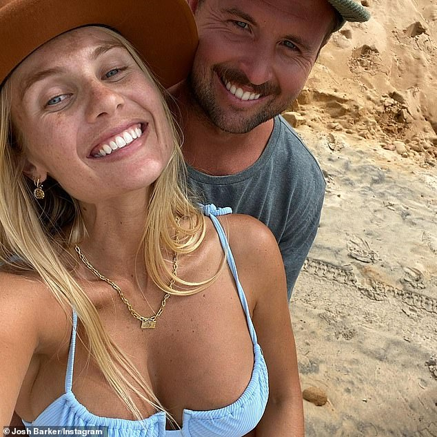 Engaged: Tradie Josh proposed to his longtime girlfriend just two weeks before she gave birth